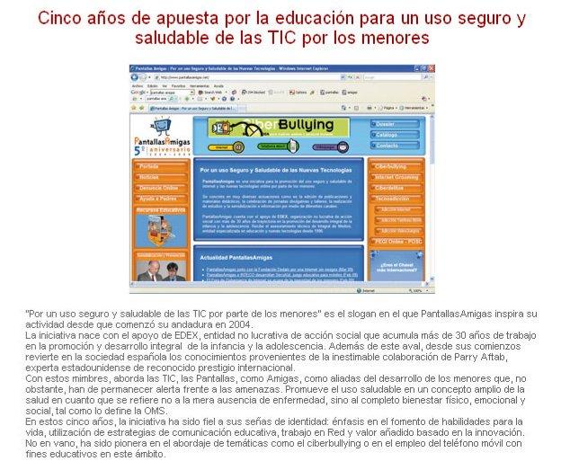 Cinco años de apuesta por la educación para un uso seguro y saludable de las TIC por los menores