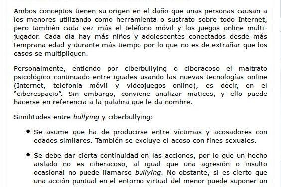 Ciberbulliyng, acoso en el nuevo contexto digital [Ibercampus.es]