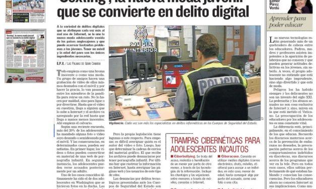 'Sexting', la nueva moda juvenil que se convierte en delito digital [Canarias 7]