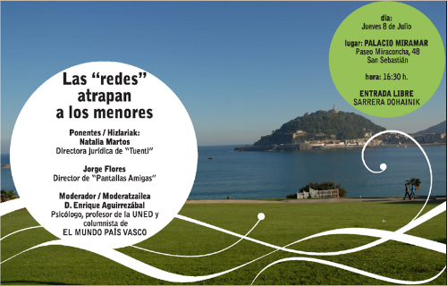 'Las redes atrapan a los menores': debate este jueves en San Sebastián