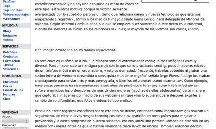 """""""Sextorsión"""", el chantaje en Internet a partir de imágenes íntimas crece de manera alarmante [LaFlecha.net]"""