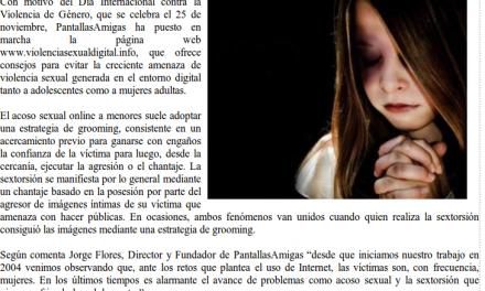 La violencia sexual contra mujeres y adolescentes aumenta en Internet [Cantabria24horas.com]