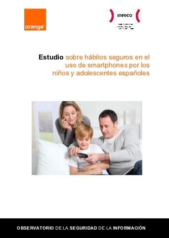 Portada del estudio sobre smartphones y menores en España