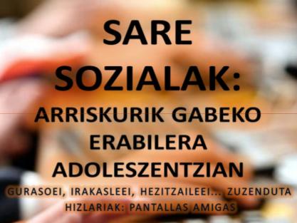 Jornada en Markina-Xemein sobre redes sociales con la colaboración de PantallasAmigas (29 y el 30 de noviembre)