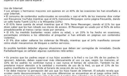 Un estudio nos cuenta cómo viven la Red los nuevos alumnos de la ESO [Andalucia24horas.com]