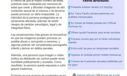 """España: Alertan por inclusión de menores a la moda del """"sexting"""" [Anodis.com]"""