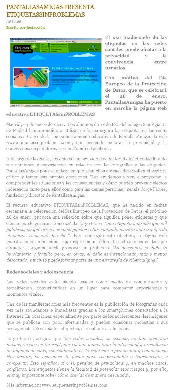 PantallasAmigas presenta EtiquetasSinProblemas