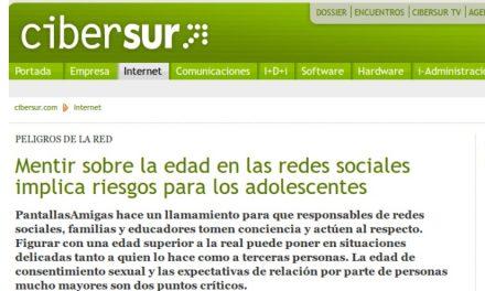 Mentir sobre la edad en las redes sociales implica riesgos para los adolescentes [CiberSur.com]