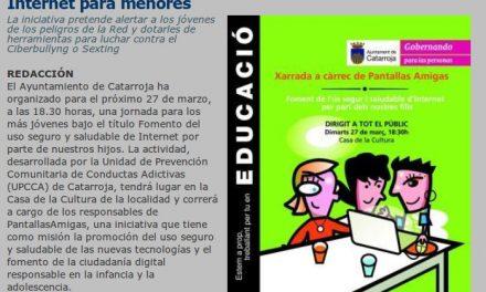 Catarroja organiza una charla sobre el uso seguro de Internet para menores [ElPeriodicoDeAqui.com]