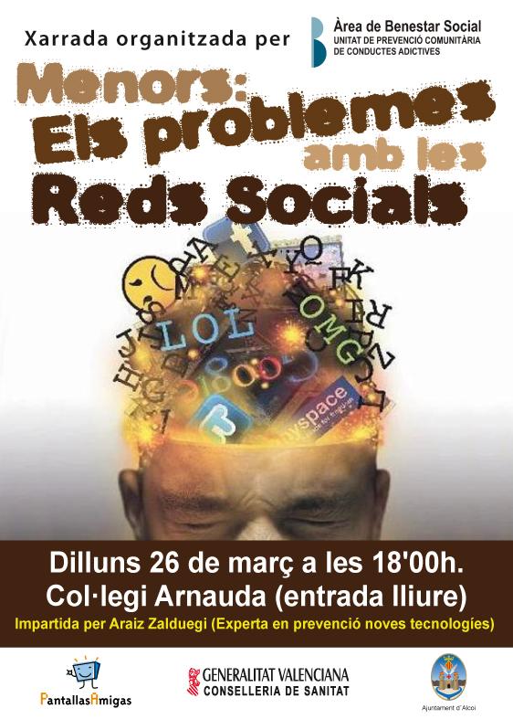 Charla en Alcoy el día 26 de marzo: Menores y redes sociales