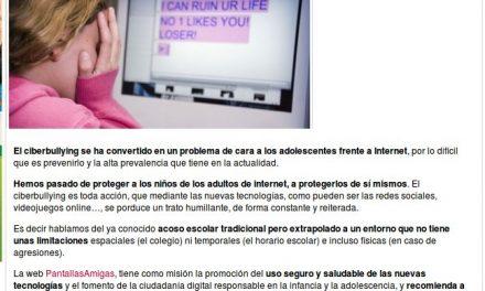 El ciberbullying, ¿cómo prevenirlo? [SaposYPrincesas.com]