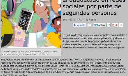 Campaña para evitar el etiquetado en redes sociales por parte de segundas personas [e-Volución]