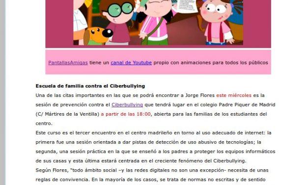 PantallasAmigas incide en la importancia de que padres e hijos compartan espacios y aprendizaje en el contexto digital [Cyberpadres.com]