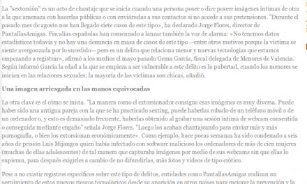 """Aumento de los casos de """"sextorsión"""" en España e Iberoamérica [eGlobalPress.net]"""