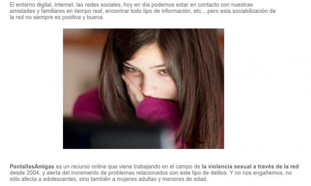 Violencia sexual a través de la red [Facilisimo.com]