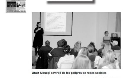 Araiz Zalduegi advirtió de los peligros de redes sociales [Ciudad de Alcoy]