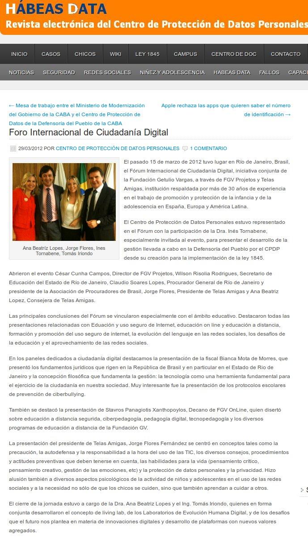 Foro Internacional de Ciudadanía Digital