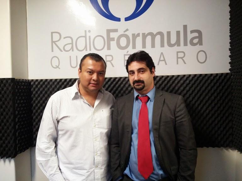 Edgar Martín Ríos presentador del noticiero Radio Fórmula de Querétaro