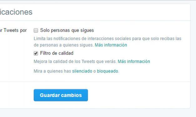 Twitter permite reducir ruido y mostrar contenido de calidad gracias a nuevas opciones