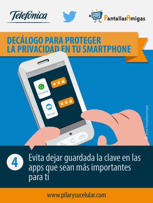 Pilar y su celular - decálogo para mejorar privacidad en Smartphone