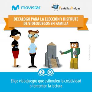 Decálogo para la elección y disfrute de videojuegos en familia - PantallasAmigas - Movistar -02