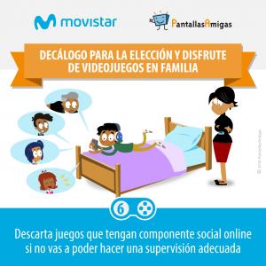 Decálogo para la elección y disfrute de videojuegos en familia - PantallasAmigas - Movistar -06
