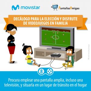 Decálogo para la elección y disfrute de videojuegos en familia - PantallasAmigas - Movistar -08