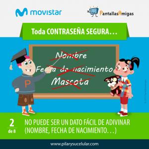 Movistar PantallasAmigas Clave contraseña segura 2