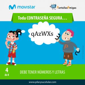 Movistar PantallasAmigas Clave contraseña segura 4