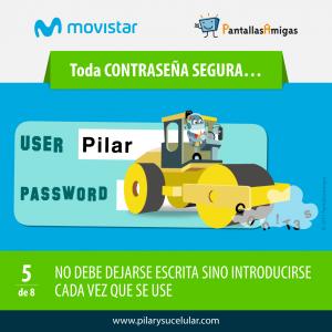 Movistar PantallasAmigas Clave contraseña segura 5