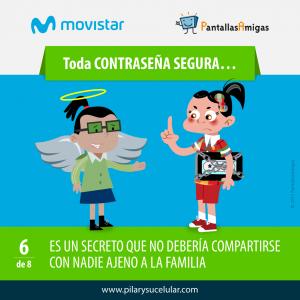 Movistar PantallasAmigas Clave contraseña segura 6