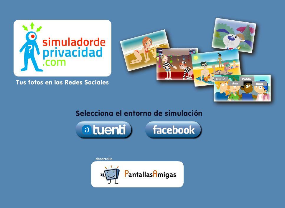 simulador de redes sociales privacidad