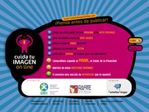 Portada CuidaTuImagenOnLine, recurso iberoamericano por un uso sin riesgos de Internet
