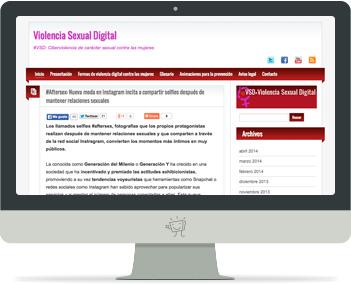 Captura de la portada del web violenciasexualdigital.info