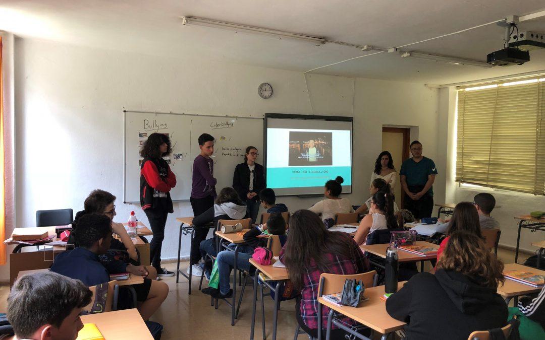 Cibermaganers en el Colegio IES De Tafira–Nelson Mandela, Las Palmas de Gran Canaria