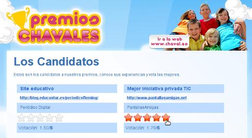 PantallasAmigas, candidata a mejor iniciativa privada TIC en los premios Chavales