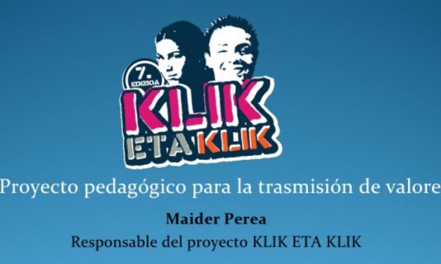 PantallasAmigas aconseja a los alumnos vascos participantes en el proyecto Klik-eta-klik