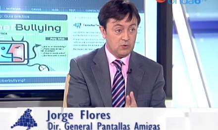 Jorge Flores, director de PantallasAmigas, entrevistado en Onda 6 TV