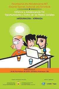 Jornadas en Portugalete sobre riesgos y oportunidades de las redes sociales en Internet para los adolescentes