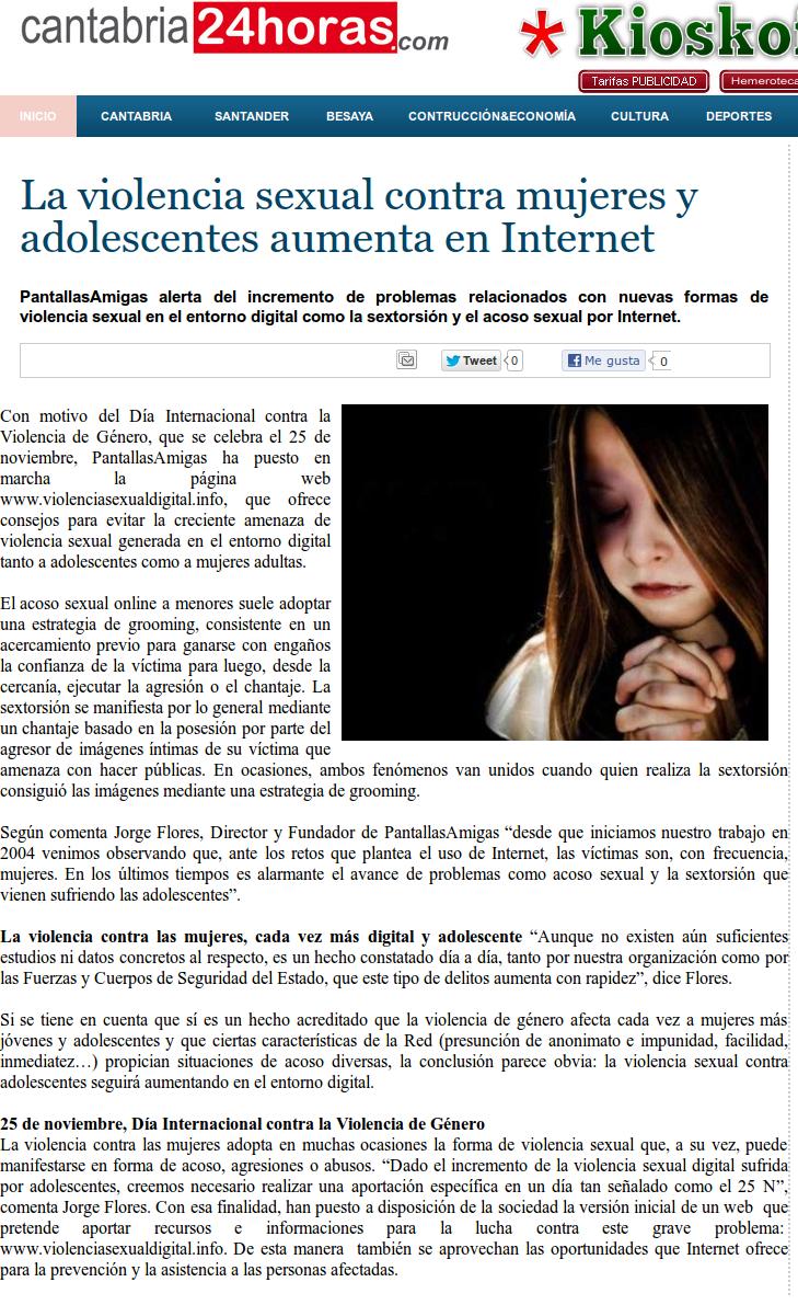 La violencia sexual contra mujeres y adolescentes aumenta en Internet