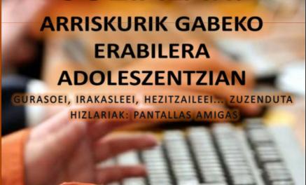 Mancomunidad de Lea-Artibai organiza con PantallasAmigas unas jornadas sobre uso seguro de las redes sociales en la adolescencia (29 y 30 de noviembre
