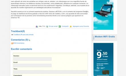 PantallasAmigas e INTECO desarrollan el primer juego móvil educativo sobre el uso seguro de Internet [TodoMovil.com]