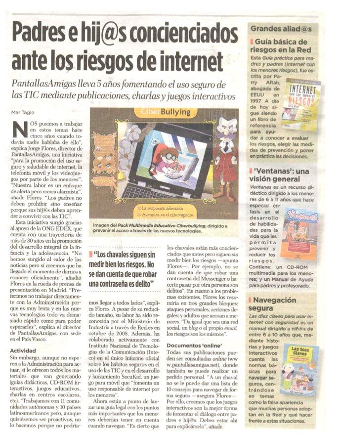 Padres e hijos concienciad@s ante los riesgos de Internet
