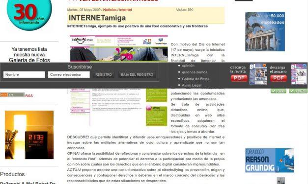INTERNETamiga, ejemplo de uso positivo de una Red colaborativa y sin fronteras [Electro-imagen.com]