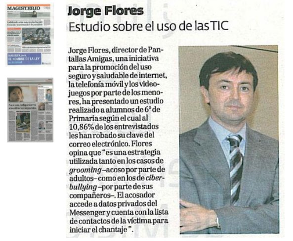 Jorge Flores. Estudio sobre el uso de las TIC [Magisterio]