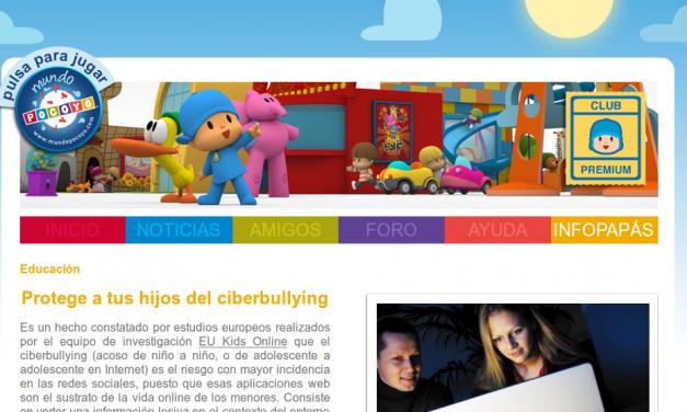 Protege a tus hijos del ciberbullying [MundoPocoyo.com]