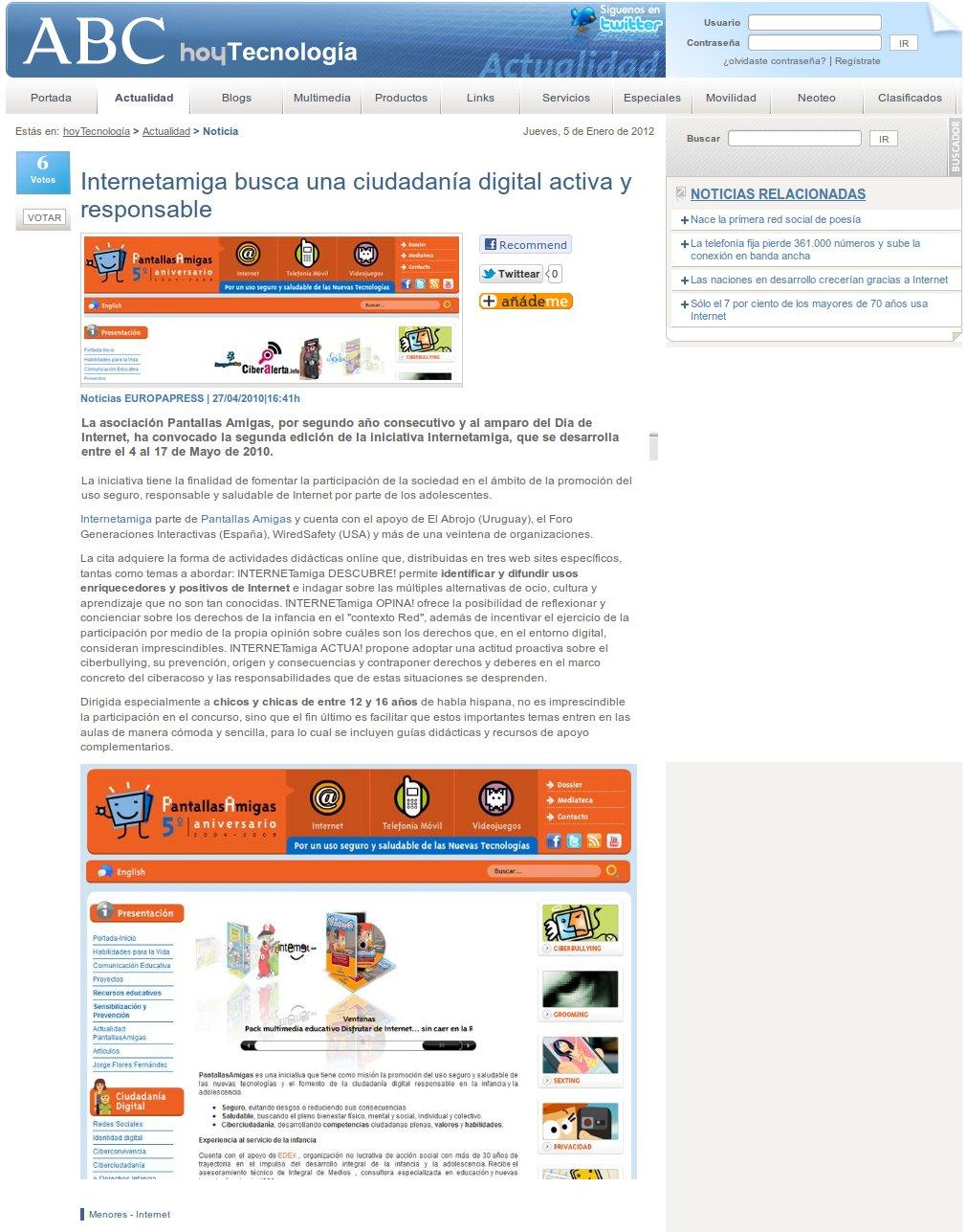 Internetamiga busca una ciudadanía digital activa y responsable