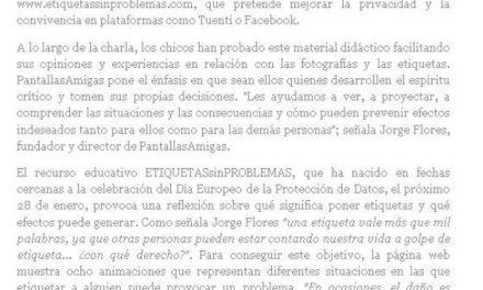 PantallasAmigas presenta EtiquetasSinProblemas [eGlobalPress.net]
