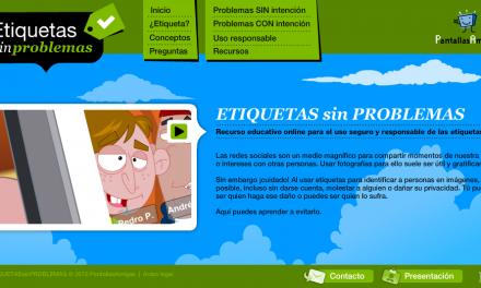 PantallasAmigas presenta ETIQUETASsinPROBLEMAS.com para promover el uso responsable de etiquetas en redes sociales
