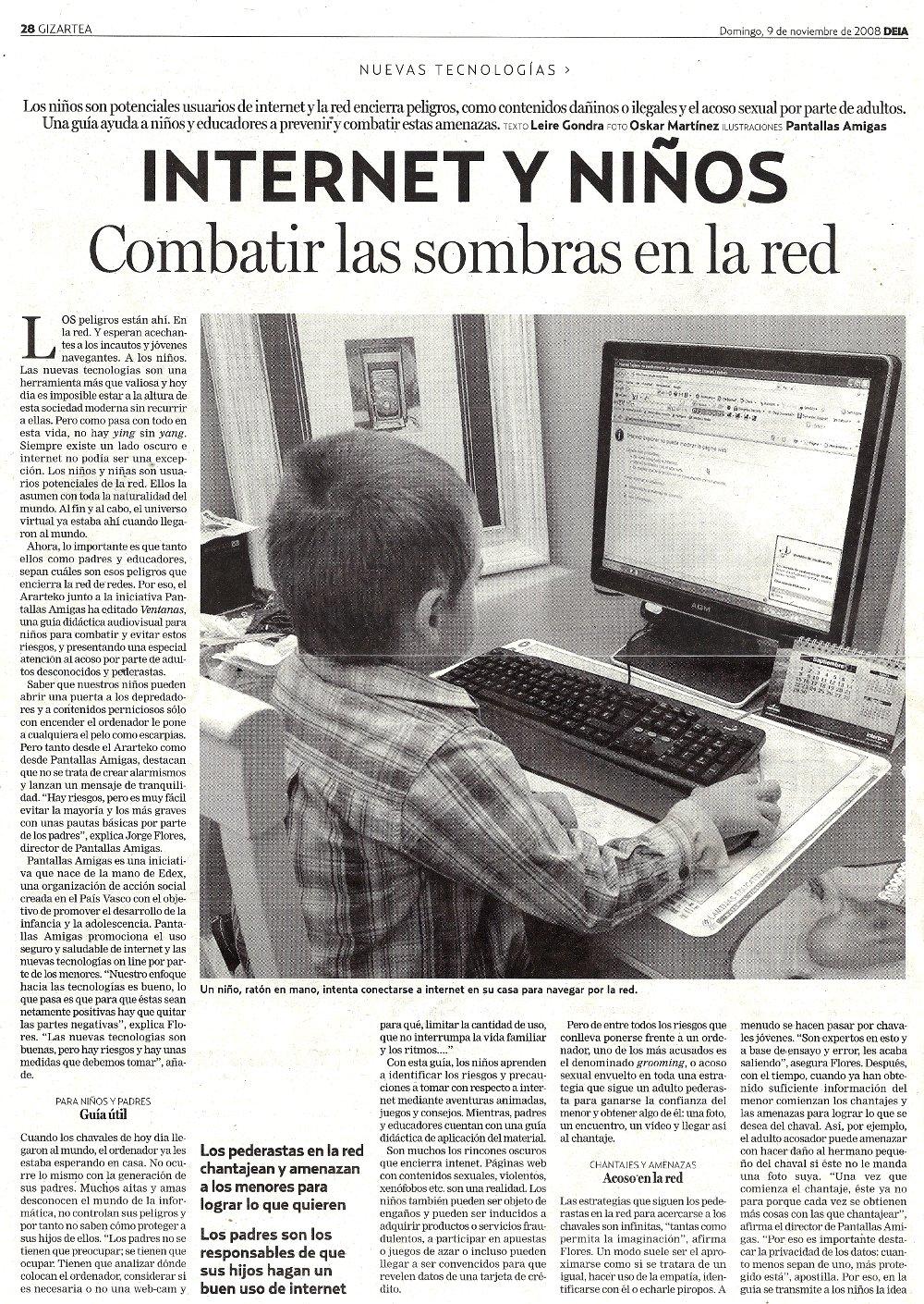 Internet y niños: combatir las sombras en la red (1)